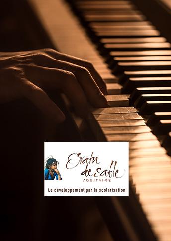 Concert Piano à 4 mains association Grain de sable